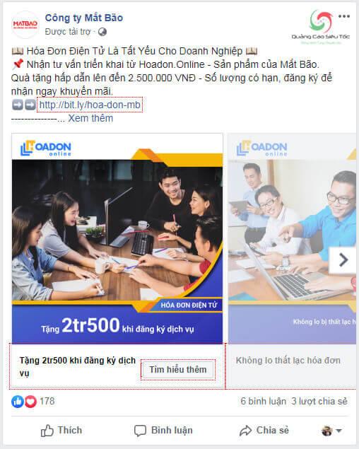 Dạng quảng cáo Canvas Facebook