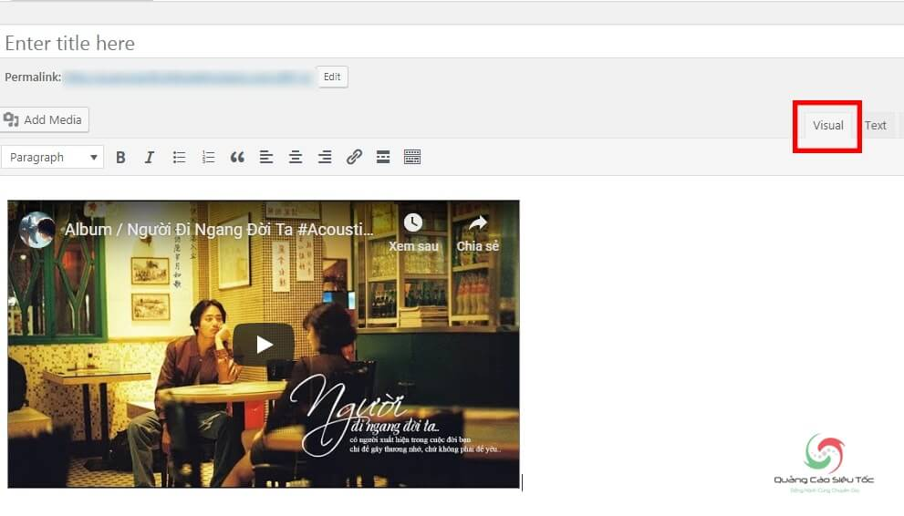 Chèn video vào HTML của web thành công