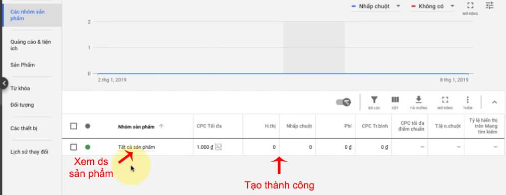 chạy google shopping