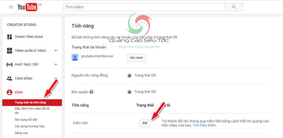 đăng ký adsense cho kênh youtube