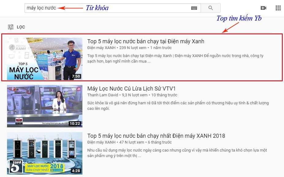 dịch vụ seo top youtube