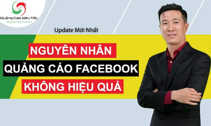 Nguyên nhân quảng cáo Facebook không hiệu quả