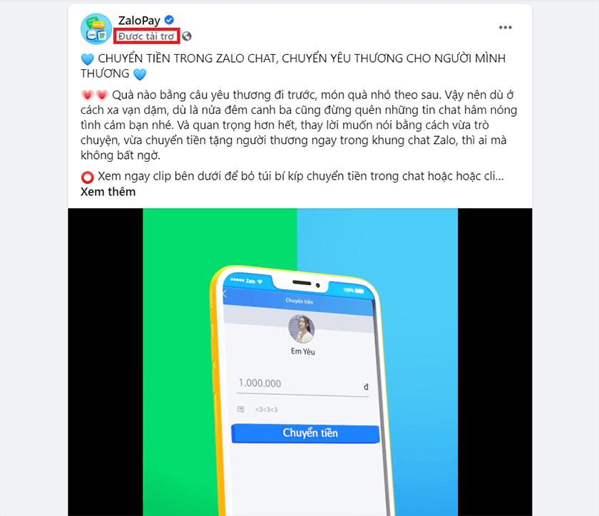 nhận biết facebook ads