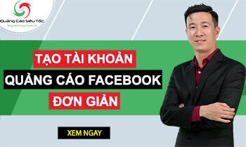 Banner hướng dẫn tạo tài khoản quảng cáo Facebook