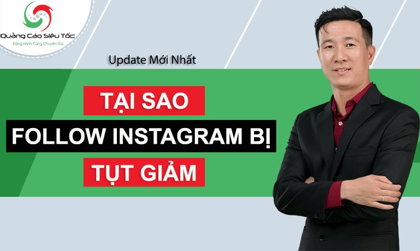 follow instagram bị giảm