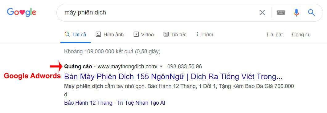 google adwords có hiệu quả không