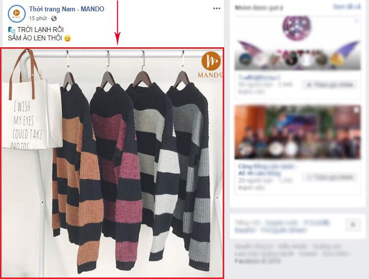 hình thức quảng cáo trên facebook