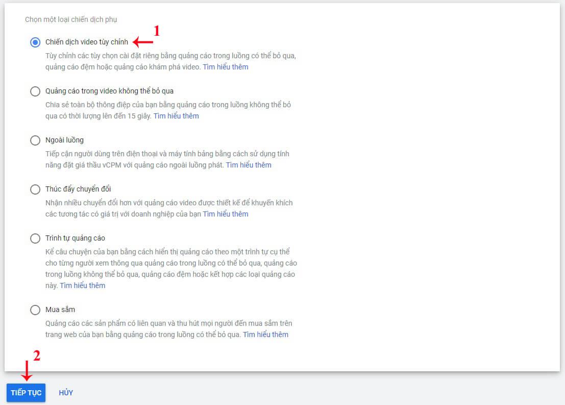 hướng dẫn chạy quảng cáo youtube