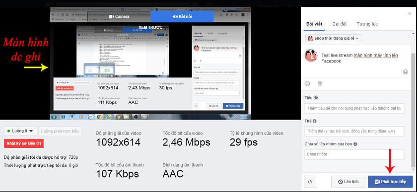 hướng dẫn live stream facebook bằng obs