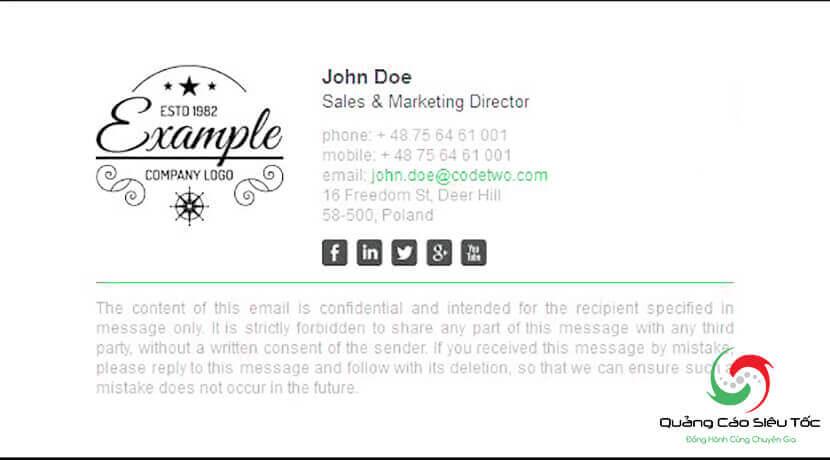mẫu chữ ký email