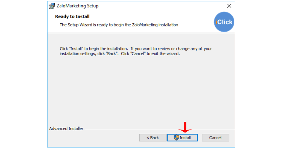 install zalo marketing iclick