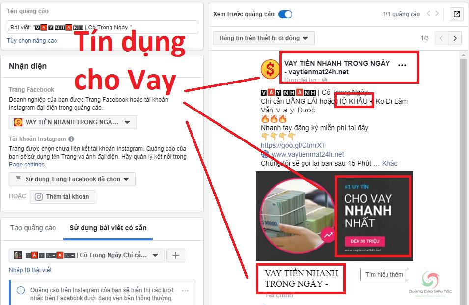 Nội dung bị cấm quảng cáo làm Facebook không cắn tiền
