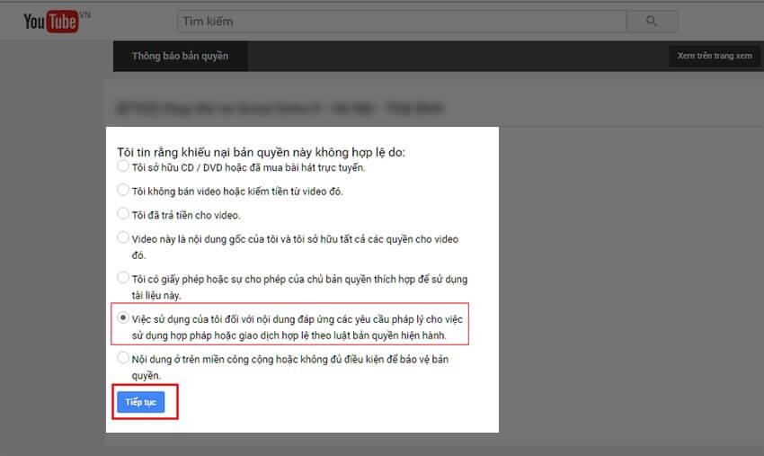 Chọn lý do hợp lý để kháng cáo bản quyền Youtube