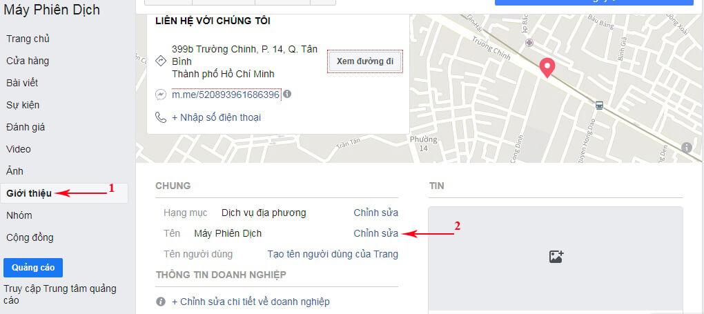không đổi được tên fanpage trên facebook