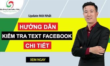 kiểm tra text trong facebook