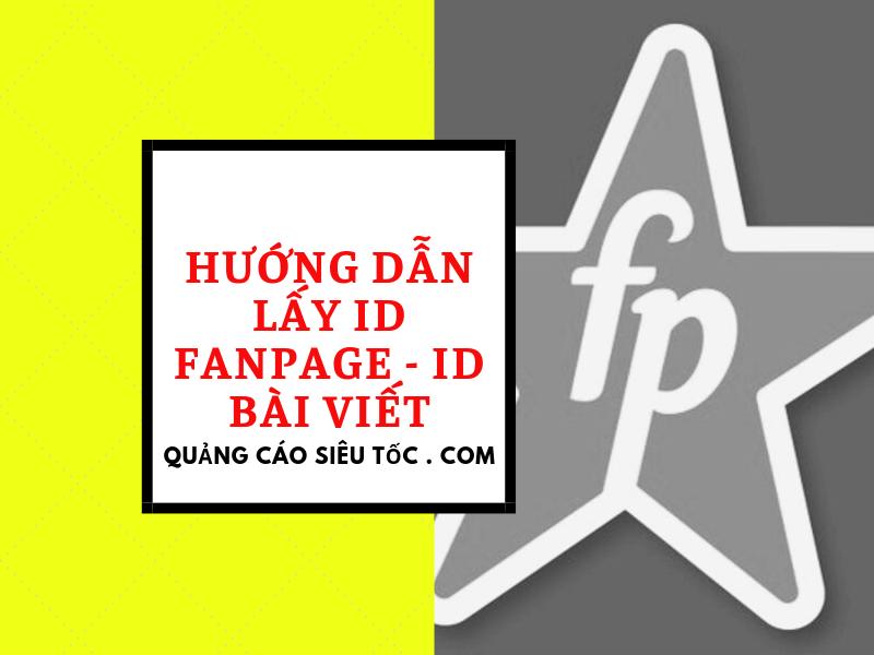 lấy id fanpage