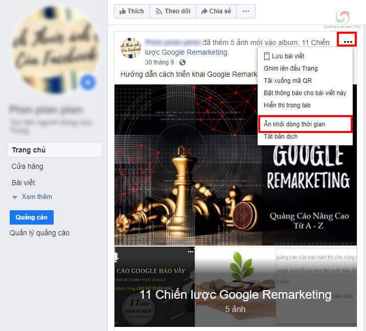 Chủ động ẩn bài viết khỏi timeline trên Facebook