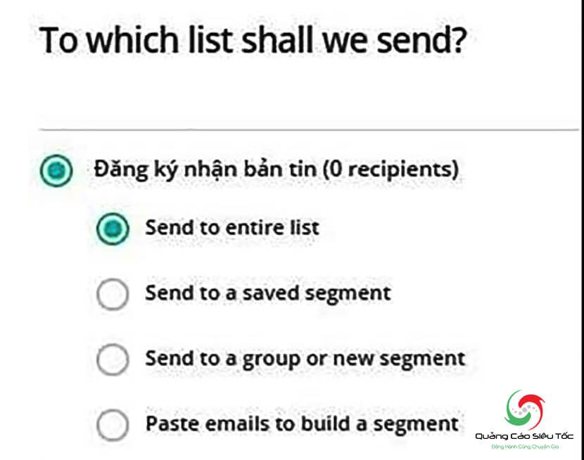 sử dụng phần mềm mailchimp