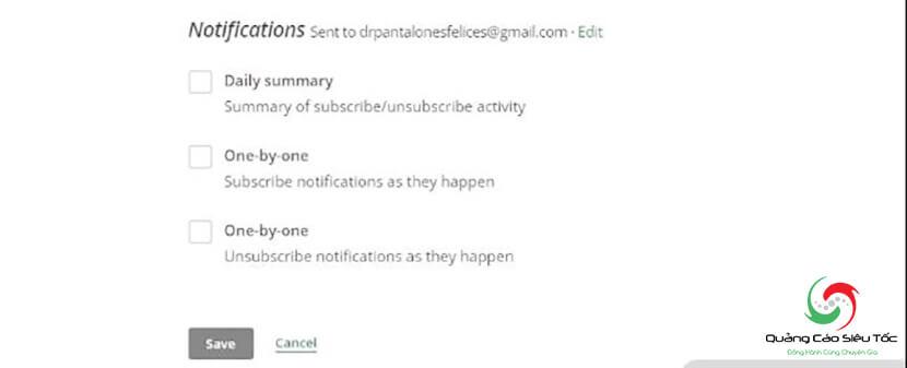 tài khoản mail chimp
