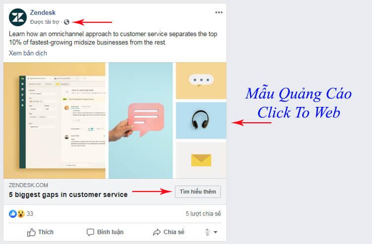 mẫu quảng cáo click to web