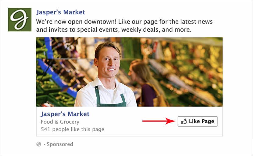 mẫu quảng cáo tăng like facebook