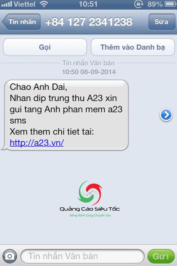 mẫu tin nhắn quảng cáo sms