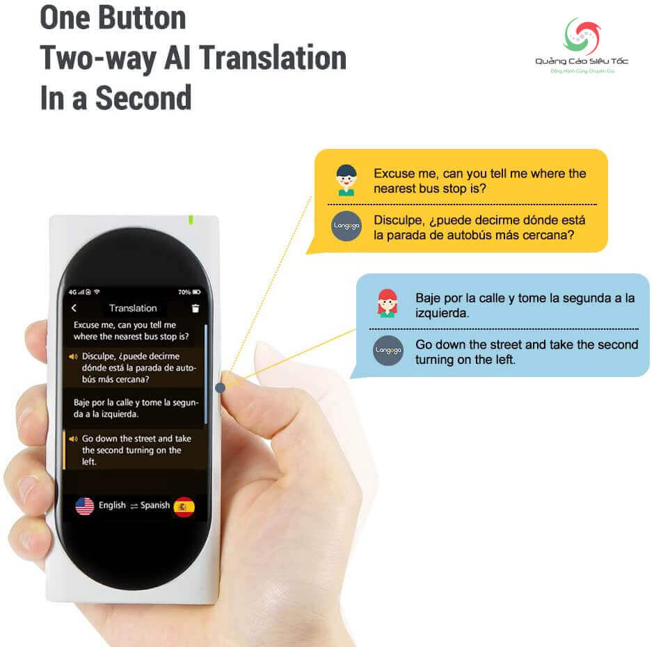 Langogo được tích hợp đến 24 công cụ dịch thuật khác nhau