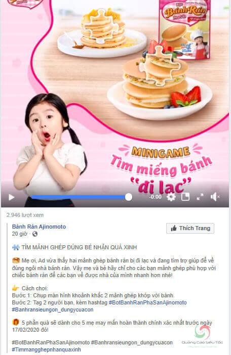 mini game facebook yêu cầu đầu tư về hình ảnh