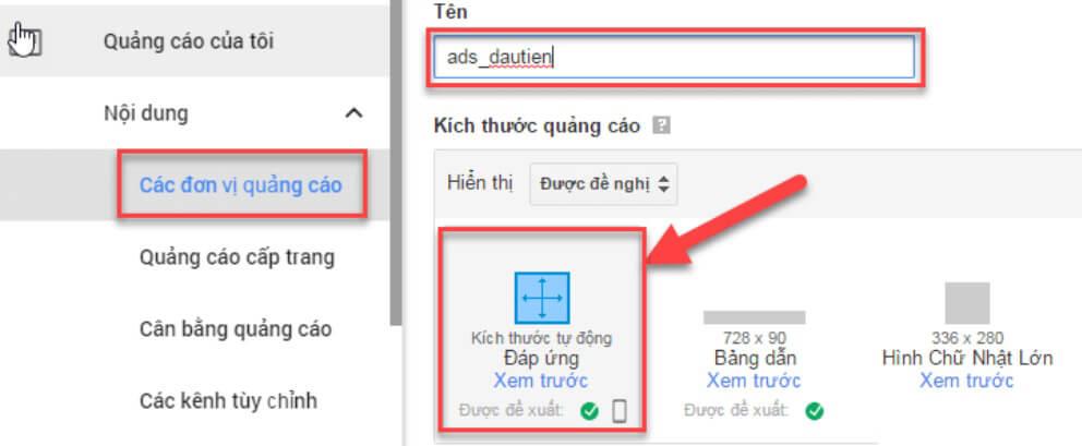 nâng cấp google adsense hosted