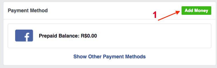 nạp tiền vào facebook