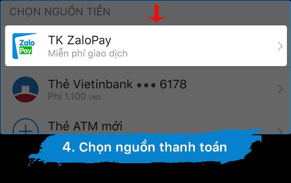 Nguồn thanh toán zalo pay