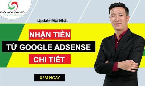 nhận tiền google adsense