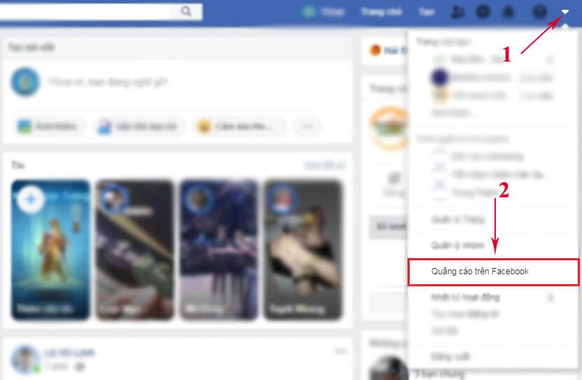 nhập quảng cáo facebook