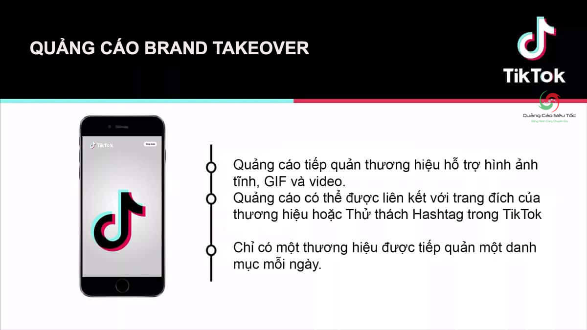 Chi tiết về định dạng quảng cáo Brand Takeover của TikTok