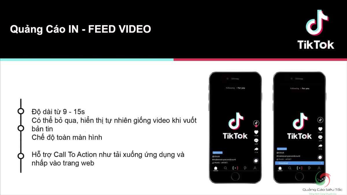Giải thích về dạng quảng cáo Tik Tok IN - FEED VIDEO