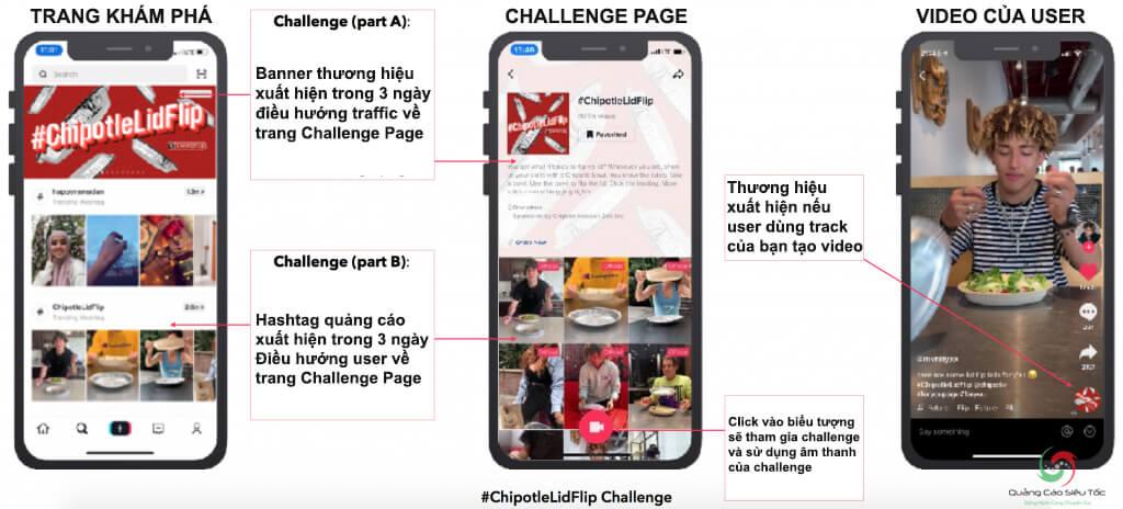 Giải thích cách hoạt động của dạng quảng cáo Hashtag Challenge