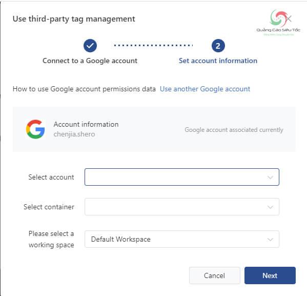 Nhập thông tin tài khoản Google của bạn