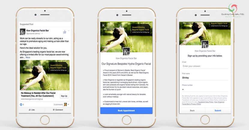 Tạo form lead ads để khách hàng điền thông tin đăng ký