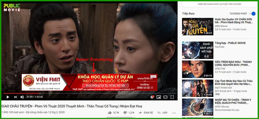 quảng cáo remarketing trên youtube