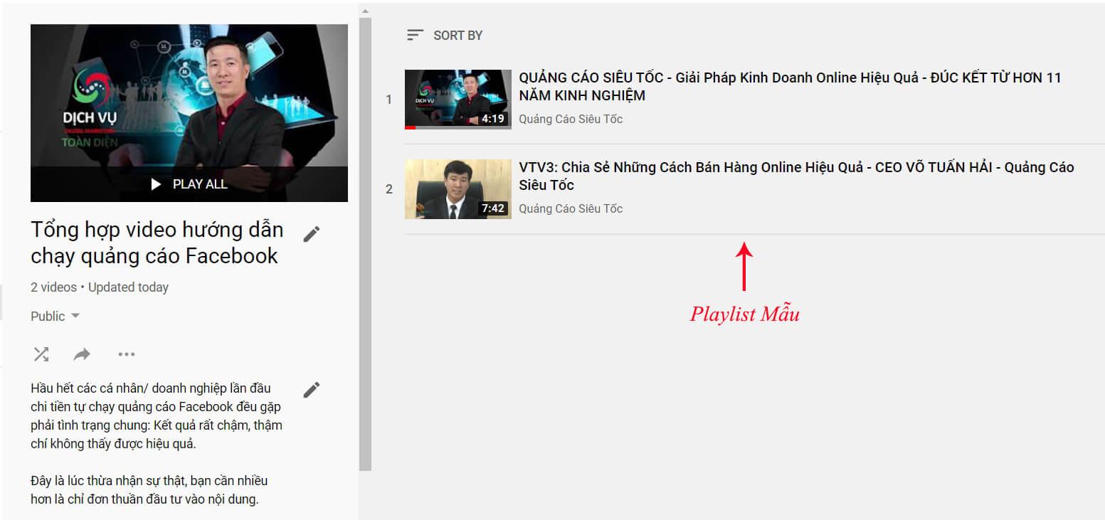 seo danh sách phát trên youtube