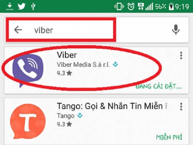 sử dụng viber