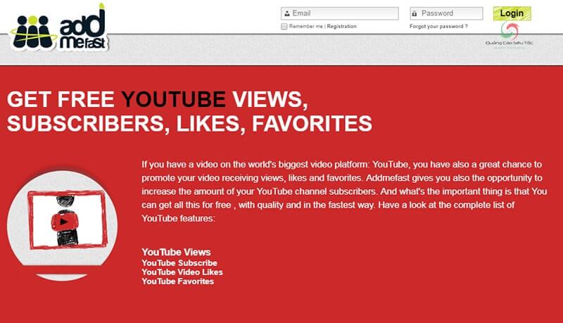 Addmefast là một trong các trang tăng sub youtube hiệu quả