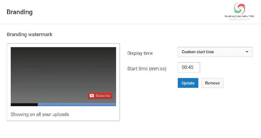 Chèn Watermark vào video để tăng lượt sub cho Youtube