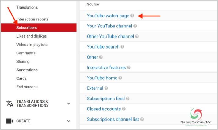Truy cập tính năng Your Youtube Subscribers