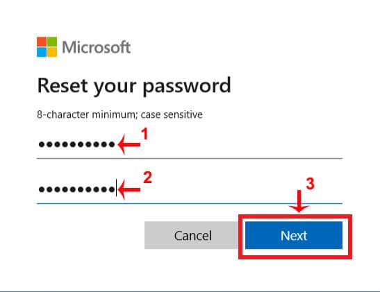 tạo mật khẩu mới skype