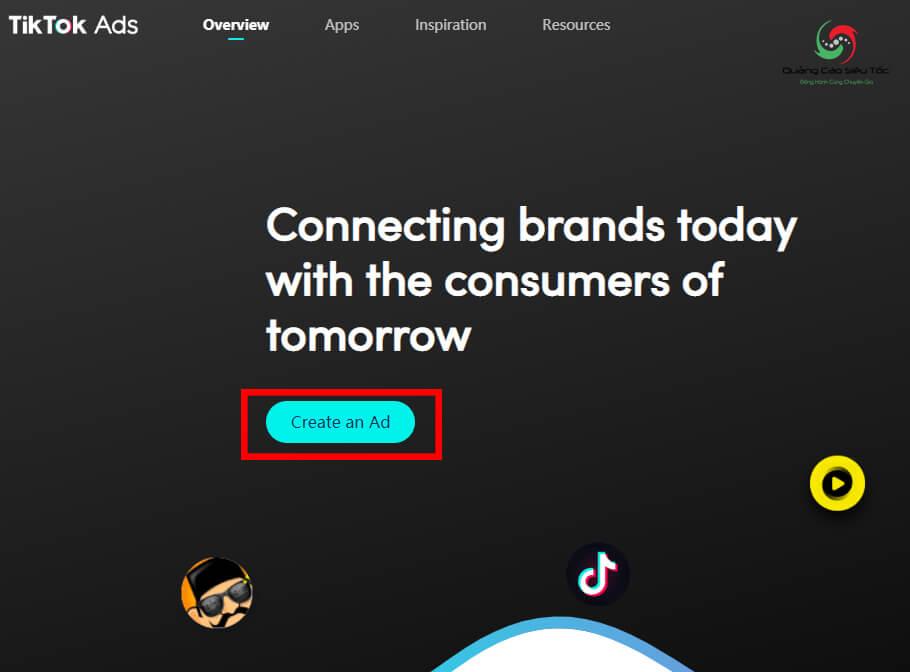 Truy cập trang đăng ký tài khoản quảng cáo của TikTok