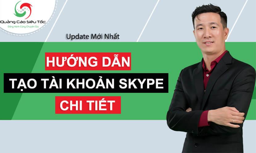 tạo tài khoản skype