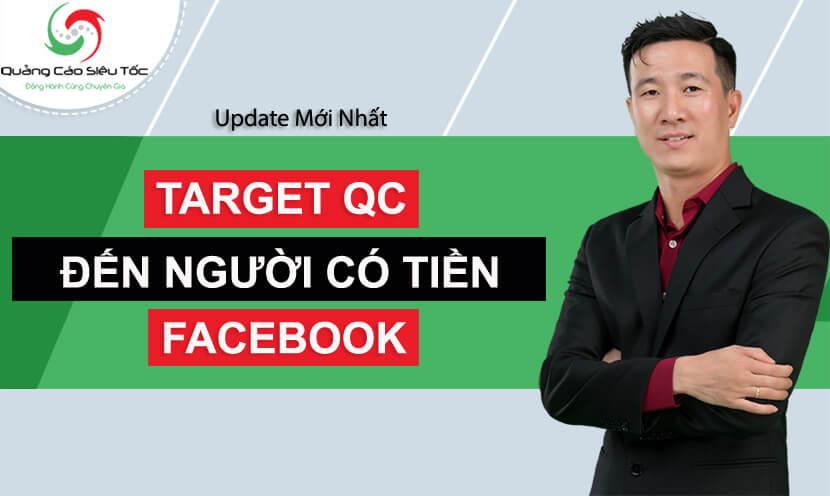 target quảng cáo người có tiền