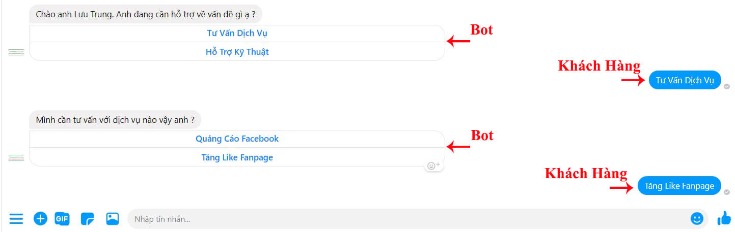 test kịch bản chatbot ahachat