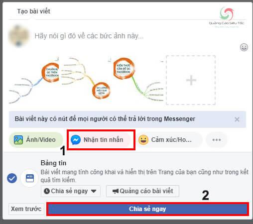 Các bước thêm nút Gửi Tin Nhắn trên bài viết Fanpage